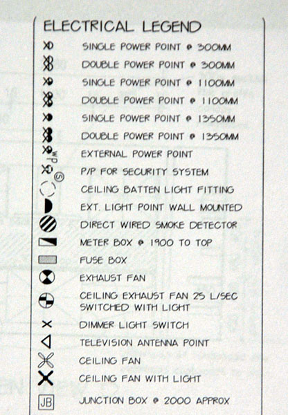 Electrical Symbols House Plans Australia Design Ideas